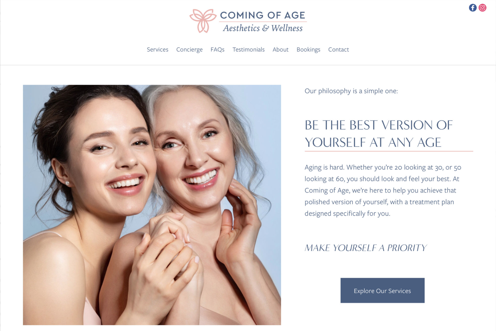 Coming of Age<br />Aesthetics & Wellness